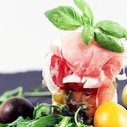 Tartare de tomates, melon et burrata
