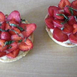 tarte citron/fraise/basilic