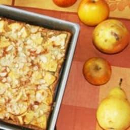 Clafoutis pomme poire aux amandes et farine de châtaigne