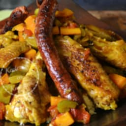 Poulet épicé et tajine de légumes