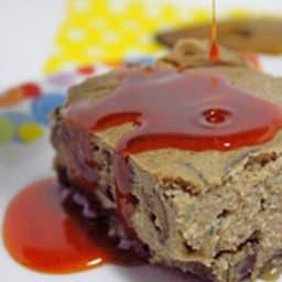 Pudding salé aux aubergines, romarin et son huile au paprika