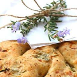 Fougasse au gorgonzola romarin et fleur de sel