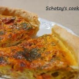 Tarte au saumon fumé et curry