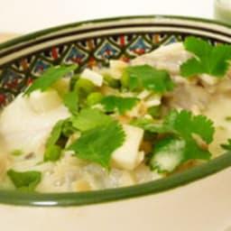 Marmite de lotte au curry vert