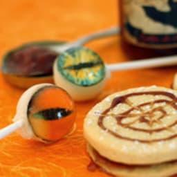 Biscuits à la gelée de chauve souris coulis de vampire et poudre de fée