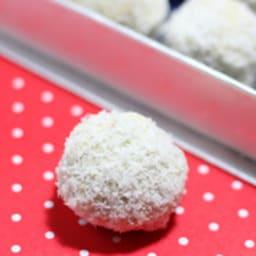 Truffes pralinées chocolat blanc - coco