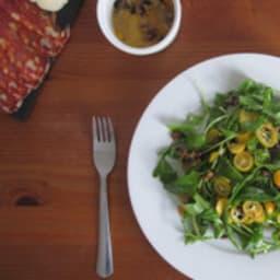 Salade de roquette, kumquats et noix