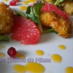 Langoustines croustillantes au beurre d'agrumes