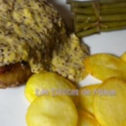 Côtes de porc ibérique à la moutarde à l'ancienne