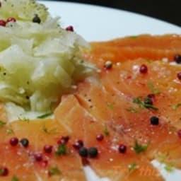 Carpaccio de saumon au fenouil