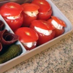 Bento mini tomates farcies et viande séchée des Grisons