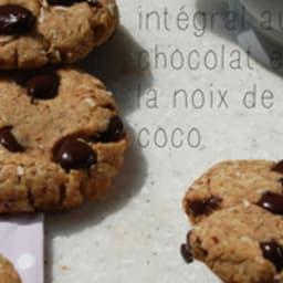 Cookie intégral au chocolat et à la noix de coco