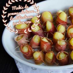 Makis de pommes de terre au jambon cru et romarin