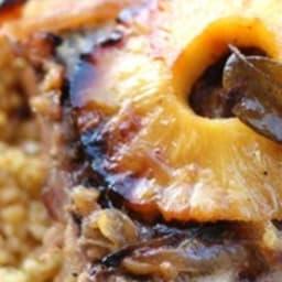 Rouelle de porc caramélisée à l'ananas