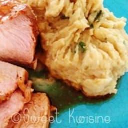 La rouelle de porc rôtie à l'orange
