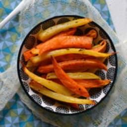 Frites de patates douces et de rutabaga