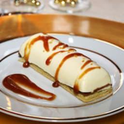 Bûchette de Noël vanille coeur coulant caramel au beurre salé
