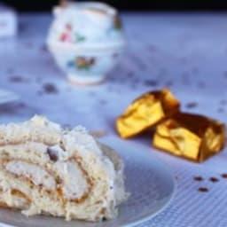 Bûche au chocolat blanc et aux marrons