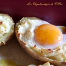 Oeufs en nid de pommes de terre