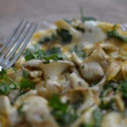 Omelette aux pleurotes