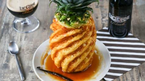 Ananas rôti au four caramélisé