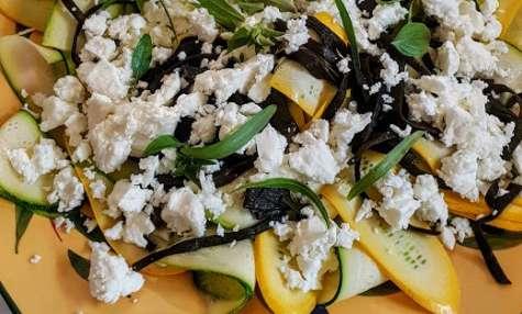 Salade aux courgettes et haricots de mer