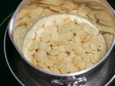 Tablage du chocolat blanc au mycryo