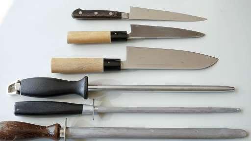 Affilage des couteaux au fusil