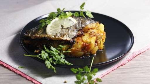 Sardines farcies et pommes de terre à la marrakchi