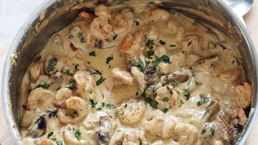 Crevettes en sauce crémeuse