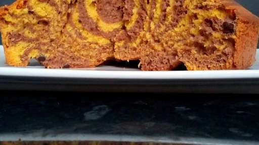 Gâteau au yaourt zébré citron chocolat