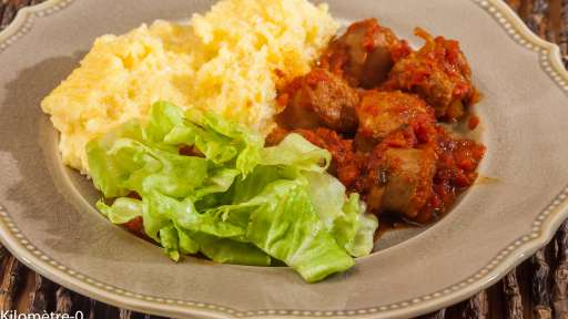 Ragù de saucisses à la polenta