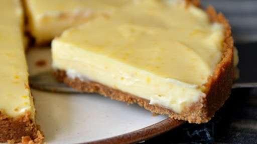 Tarte au citron bergamote sans four