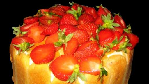 Charlotte aux fraises, mousse à la vanille et au mascarpone - Emma.cuisine