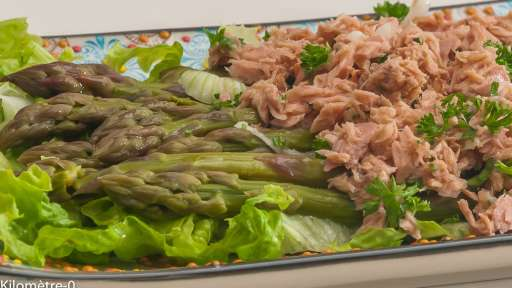 Salade d'asperges vertes au thon