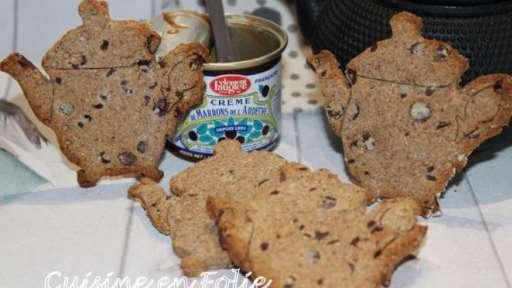 Mes p'Tea biscuits marrons-noisette et chocolat