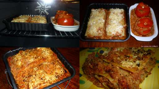 Lasagnes et tomates farcies