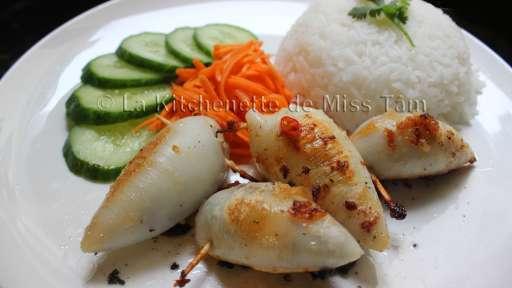 Calamars farcis à la vietnamienne