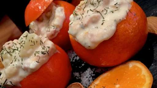 Clémentines farcies au saumon fumé