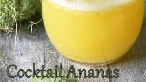 Cocktail ananas au thé vert