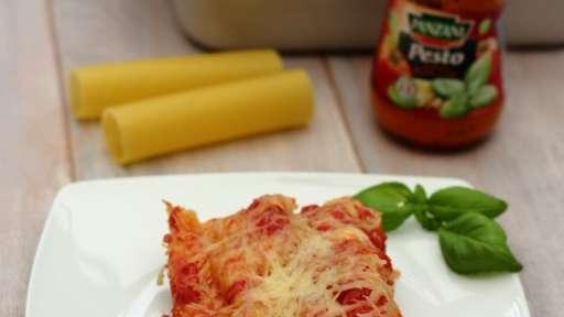 Cannelloni au thon et pesto rosso