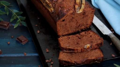 Banana bread chocolat, caramel