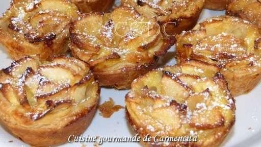 Tartelettes aux pommes et crème pâtissière au rhum