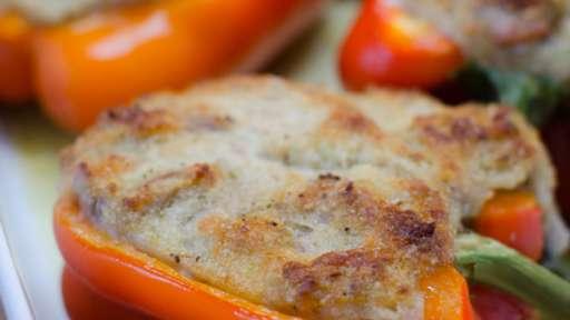 Poivrons farcis au thon et au parmesan