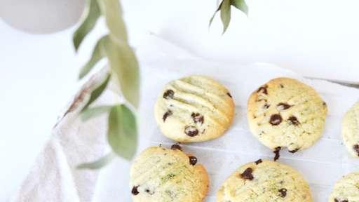 Cookies matcha chocolat