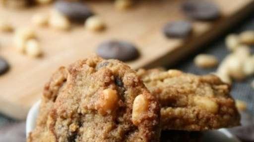 Cookies aux pépites de chocolat et aux pignons