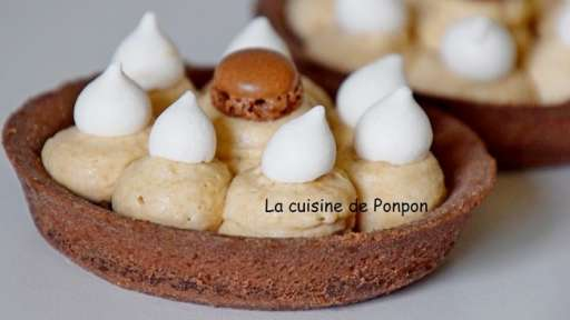 Tartelette à la crème de marron et chantilly au spéculoos