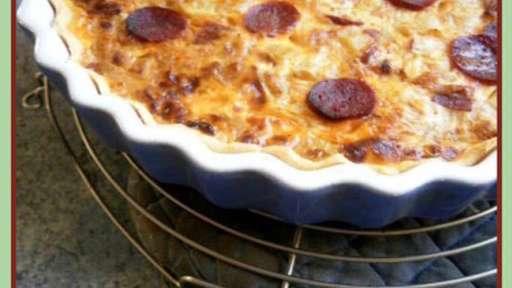 Tarte fenouil et courgette au chorizo et chèvre