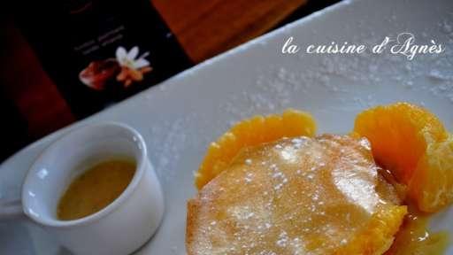 Feuillantine à l'orange et sa crème légère au rooibos
