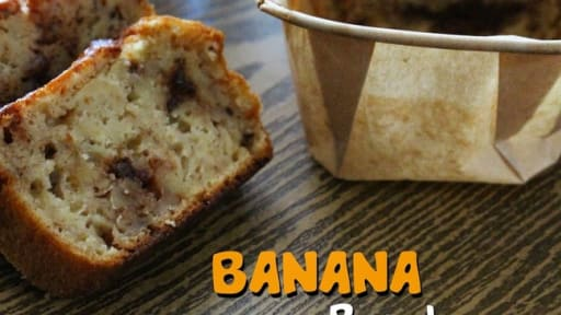 Banana bread au chocolat carambar